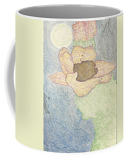 Coffee Mug featuring the drawing Between Dreams by Kim Pate