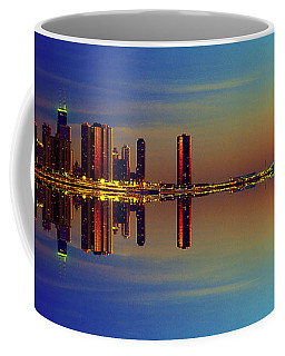 Between Night And Day Chicago Skyline Mirrored Coffee Mug