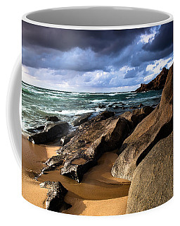 Between Rocks And Water Coffee Mug