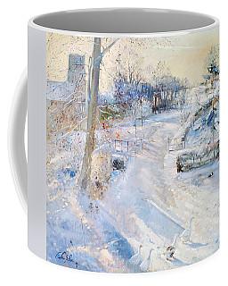 Between The Shadows Oil On Canvas Coffee Mug