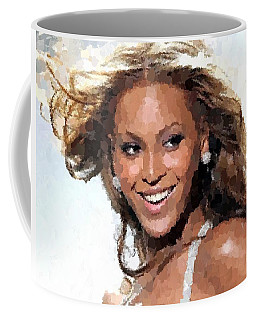 Beyonce Portrait Coffee Mug