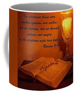 Bible By Candlelight Coffee Mug