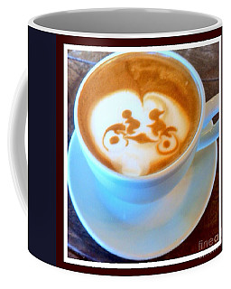 Bicycle Built For Two Latte Coffee Mug