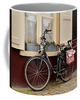 Bicycle With Baby Seat At Doorway Bruges Belgium Coffee Mug