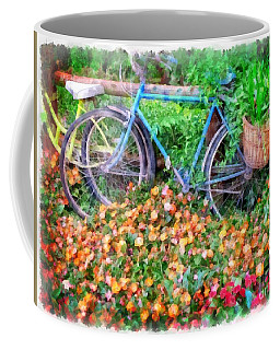 Bicycles In The Garden Coffee Mug