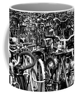 Coffee Mug featuring the photograph Sea Of Bicycles- Karlsruhe Germany by Joey Agbayani