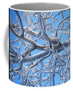 Bifurcations In White And Blue Coffee Mug by Brian Boyle