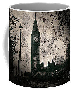 Big Ben Black And White Coffee Mug