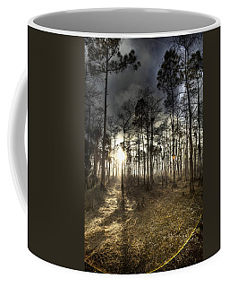 Big Cypress Fire At Sunset Coffee Mug by Bradley R Youngberg