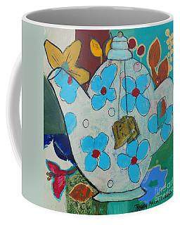 Big Floral Tea Pot Coffee Mug