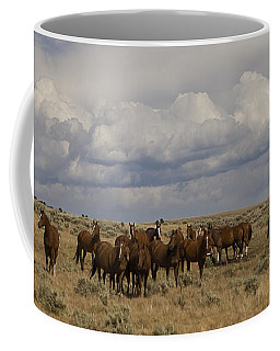 Coffee Mug featuring the photograph Big Horn Brood Mares by J L Woody Wooden