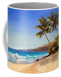 Hawaiian Beach Seascape - Big Island Getaway  Coffee Mug