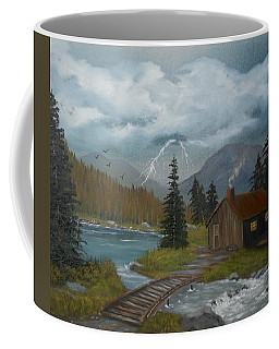 Coffee Mug featuring the painting Big Storms A Comin' by Sheri Keith