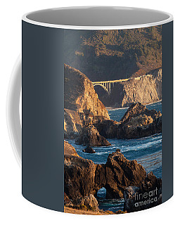 Big Sur Coastal Serenity Coffee Mug by Mike Reid