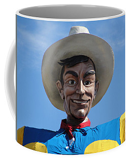 Coffee Mug featuring the photograph Big Tex by Charlie and Norma Brock
