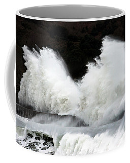 Big Waves Breaking On Breakwater Coffee Mug