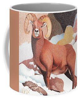Bighorn Sheep Winter Coffee Mug