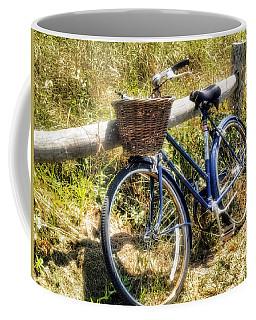 Coffee Mug featuring the photograph Bike At Nantucket Beach by Tammy Wetzel