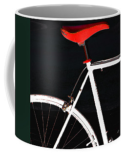 Bike In Black White And Red No 1 Coffee Mug by Ben and Raisa Gertsberg