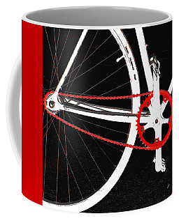 Bike In Black White And Red No 2 Coffee Mug
