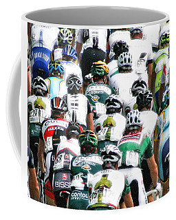Coffee Mug featuring the photograph Bike Race Image by Christopher McKenzie