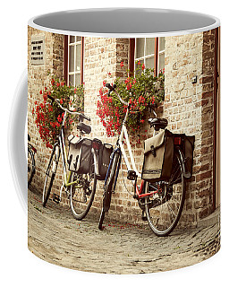 Bikes In The School Yard Coffee Mug