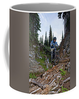 Biking In Alpine Meadow, Sol Mountain Coffee Mug