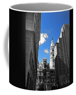 Coffee Mug featuring the photograph Billy Penn Blue by Photographic Arts And Design Studio