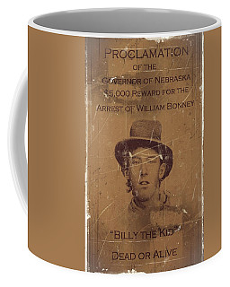Billy The Kid Wanted Poster Coffee Mug