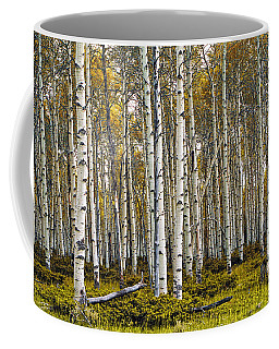 Aspen Trees In Autumn Coffee Mug