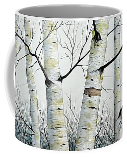 Birch Trees In The Forest By Christopher Shellhammer Coffee Mug