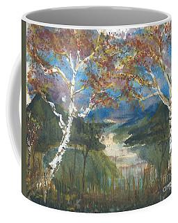 Birch Trees On The Ridge  Coffee Mug