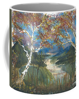 Birch Trees On The Ridge  Coffee Mug
