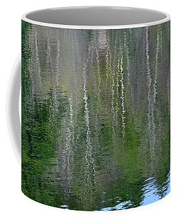 Birch Trees Reflected In Pond Coffee Mug