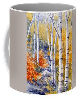 Birches Along The Trail Coffee Mug