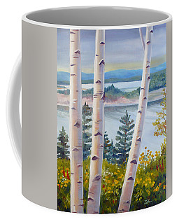 Birches In Nova Scotia Coffee Mug