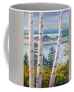 Birches In Nova Scotia Coffee Mug