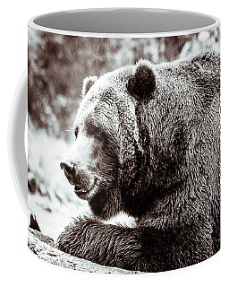 Bird And A Bear In Black And White Coffee Mug