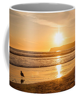 Bird And His Sunset Coffee Mug