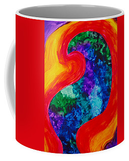 Coffee Mug featuring the painting Bird Form I by Michele Myers