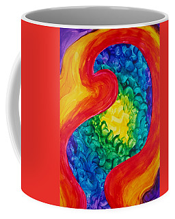 Coffee Mug featuring the painting Bird Form II by Michele Myers
