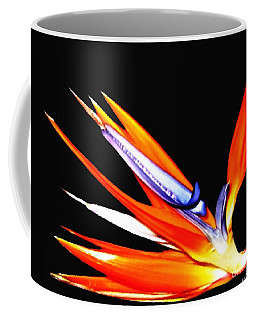 Coffee Mug featuring the photograph Bird Of Paradise Flower With Oil Painting Effect by Rose Santuci-Sofranko