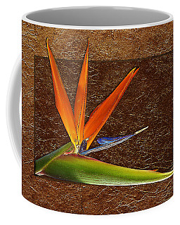 Bird Of Paradise Gold Leaf Coffee Mug