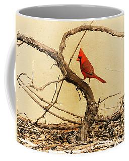 Coffee Mug featuring the photograph Bird On A Vine by Jayne Wilson