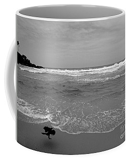 Bird On Kovalam Beach Coffee Mug