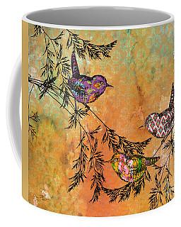 Bird Trio On Branches-a Coffee Mug