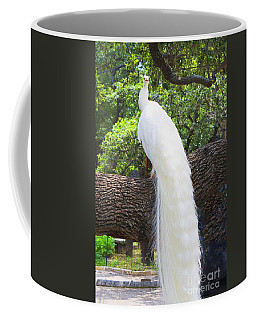 Bird - White Peacock Pose- Luther Fine Art Coffee Mug