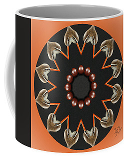 Coffee Mug featuring the photograph Bird With Egg Kaleidoscope by Betty Denise