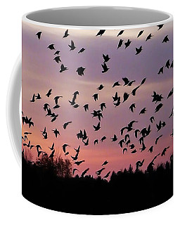 Coffee Mug featuring the photograph Birds At Sunrise by Aimee L Maher Photography and Art Visit ALMGallerydotcom