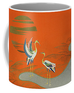 Birds At Sunset On The Lake Coffee Mug